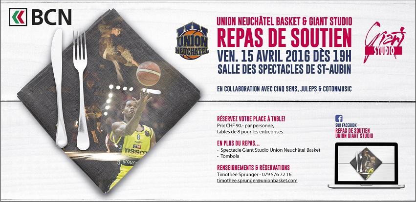 Souper de Gala Union Neuchâtel Basket – Giant Studio