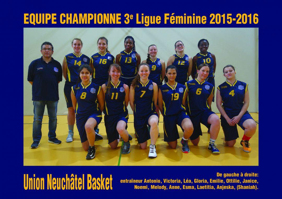 3LF Union Neuchatel Championnes